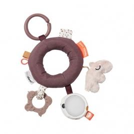 DONE BY DEER žaislas kūdikiams ACTIVITY RING DEER FRIENDS POWDER
