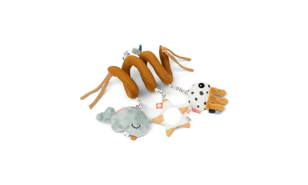 DONE BY DEER žaislas kūdikiams ACTIVITY SPIRAL MUSTARD