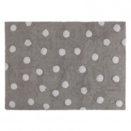 LORENA CANALS kilimas POLKA DOTS GREY WHITE