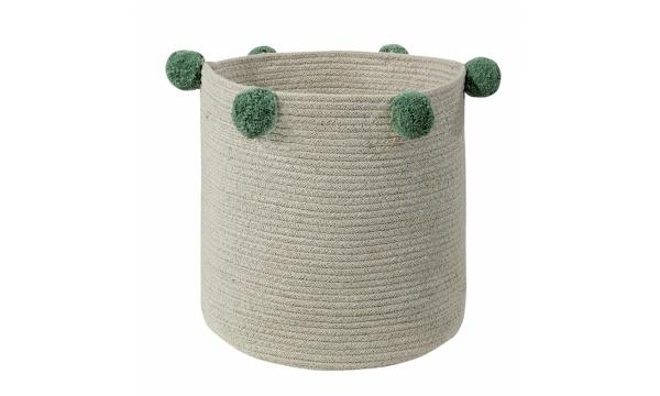 LORENA CANALS žaislų krepšys NATURAL GREEN