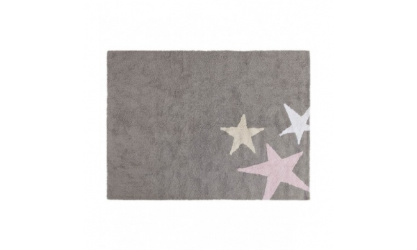 LORENA CANALS kilimas THREE STARS GREY - PINK