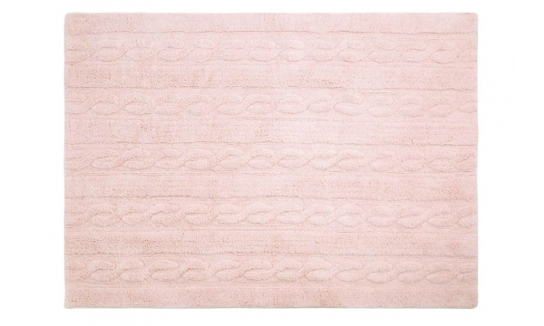 LORENA CANALS kilimas RUG BRAIDS SOFT PINK MEDIUM