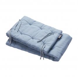 LEANDER lovytės apsaugėlė ORGANIC DUSTY BLUE (LINEA ir LUNA lovelėms)