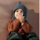 LIEWOOD megztas vaikiškas šalmukas HANIBAL DINO WHALE BLUE