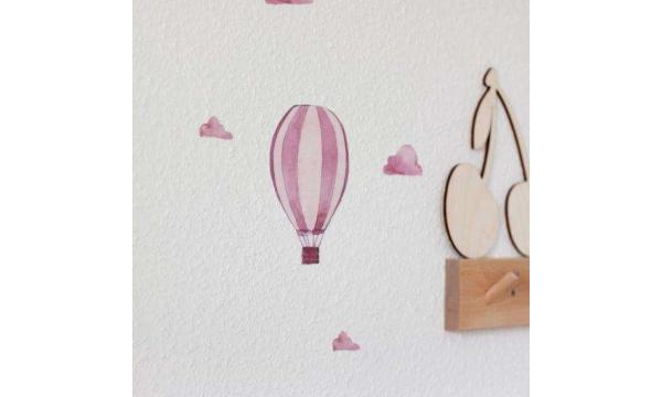 POLI & OLI sienų lipdukai  - Aquarell Airballoon Wandsticker - ROSE