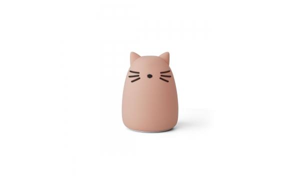 LIEWOOD naktinė lempa WINSTON CAT ROSE