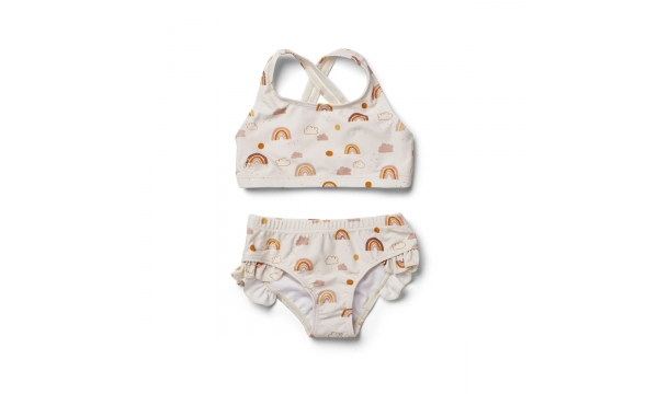 LIEWOOD maudymosi kostiumėlis mergaitėms JULIET RAINBOW LOVE SANDY