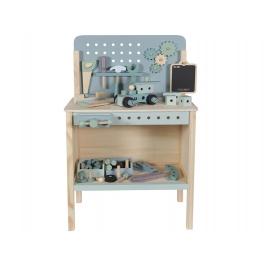 LITTLE DUTCH medinis darbastalis su įrankiais