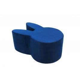 MISIOO minkštas pufas RABBIT VELVET NAVY BLUE