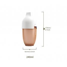 HEorSHE buteliukas ULTRA WIDE NECK WHITE, 240 ml