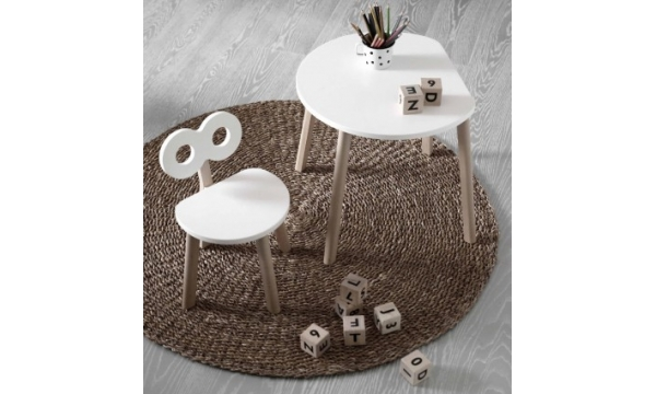 OOH NOO  vaikiškas stalas pusmėnulio formos Half-Moon